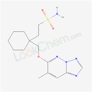 2-[1-[(4-METHYL-1,2,7,9-TETRAZABICYCLO[4.3.0]NONA-2,4,6,8-TETRAEN-3-YL )OXYMETHYL]CYCLOHEXYL]ETHANESULFONAMIDE