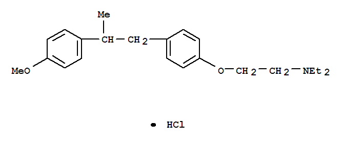 Ethanamine,N,N-diethyl-2-[4-[2-(4-methoxyphenyl)propyl]phenoxy]-, hydrochloride (1:1)