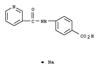 Benzoic acid,4-[(3-pyridinylcarbonyl)amino]-, sodium salt (1:1)