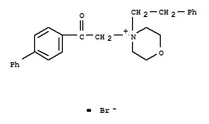 Morpholinium,4-(2-[1,1'-biphenyl]-4-yl-2-oxoethyl)-4-(2-phenylethyl)-, bromide (1:1) cas  6274-06-2