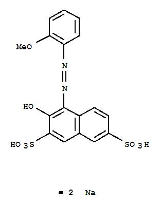 2,7-Naphthalenedisulfonicacid, 3-hydroxy-4-[2-(2-methoxyphenyl)diazenyl]-, sodium salt (1:2) cas  6300-74-9