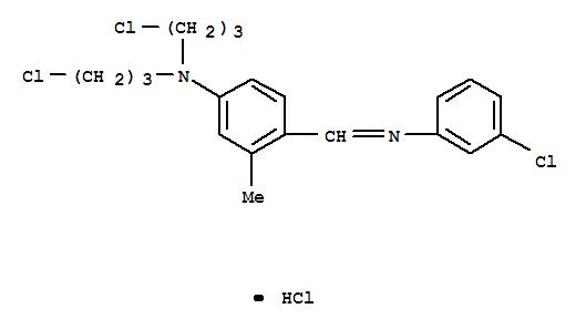 Benzenamine, 4-[[(3-chlorophenyl)imino]methyl]-N,N-bis(3-chloropropyl)-3-methyl-, hydrochloride (1:1) cas  60625-50-5