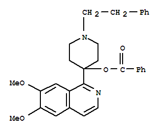 4-Piperidinol,4-(6,7-dimethoxy-1-isoquinolinyl)-1-(2-phenylethyl)-, 4-benzoate cas  62370-83-6