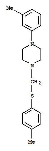 Piperazine, 1-(3-methylphenyl)-4-[[(4-methylphenyl)thio]methyl]- cas  6326-32-5