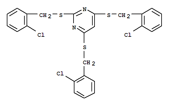 Pyrimidine,2,4,6-tris[[(2-chlorophenyl)methyl]thio]- cas  6299-78-1