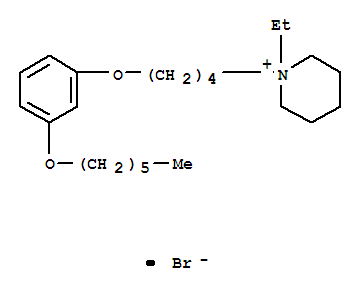 Piperidinium,1-ethyl-1-[4-[3-(hexyloxy)phenoxy]butyl]-, bromide (1:1) cas  60553-14-2