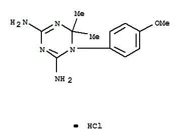 1,3,5-Triazine-2,4-diamine,1,6-dihydro-1-(4-methoxyphenyl)-6,6-dimethyl-, hydrochloride (1:1) cas  2218-74-8