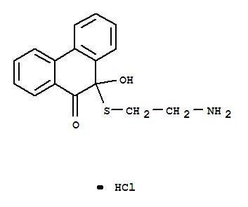 9(10H)-Phenanthrenone,10-[(2-aminoethyl)thio]-10-hydroxy-, hydrochloride (1:1) cas  24394-55-6