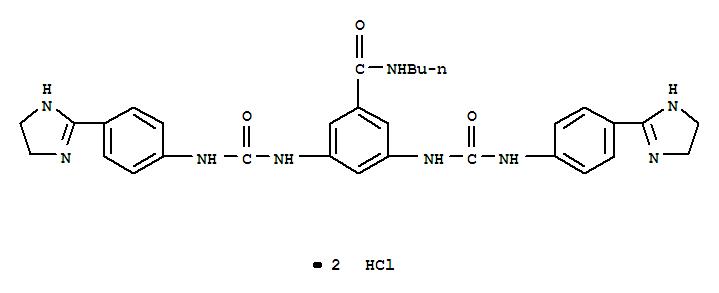 Benzamide,N-butyl-3,5-bis[[[[4-(4,5-dihydro-1H-imidazol-2-yl)phenyl]amino]carbonyl]amino]-,hydrochloride (1:2) cas  25787-09-1
