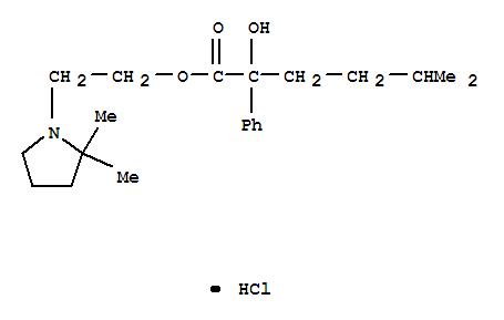 Benzeneacetic acid, a-hydroxy-a-(3-methylbutyl)-,2-(2,2-dimethyl-1-pyrrolidinyl)ethyl ester, hydrochloride (1:1) cas  2771-36-0