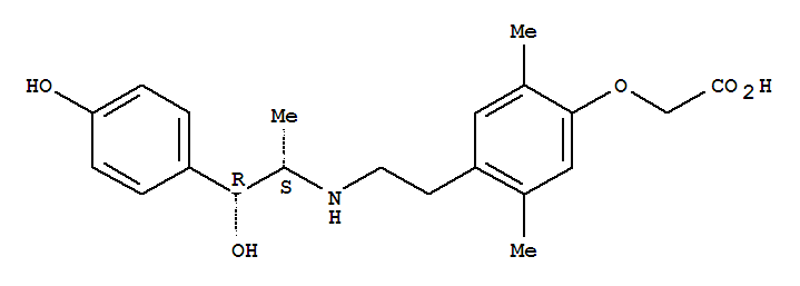 2-[4-[2-[[1-HYDROXY-1-(4-HYDROXYPHENYL)PROPAN-2-YL]AMINO]ETHYL]-2,5-DIMETHYL-PHENOXY]ACETIC ACID