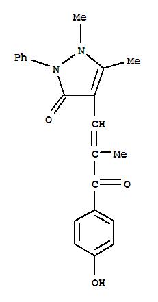 4-(2-(P-HYDROXYBENZOYL)ALLYL)ANTIPYRINE HYDRATE