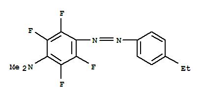 Benzenamine,4-[2-(4-ethylphenyl)diazenyl]-2,3,5,6-tetrafluoro-N,N-dimethyl- cas  22955-64-2