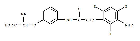2-[3-[[2-(3-AMINO-2,4,6-TRIIODO-PHENYL)ACETYL]AMINO]PHENOXY]PROPANOIC ACID