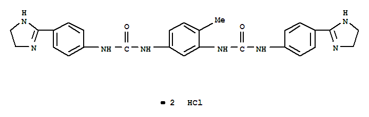 Urea,N,N''-(4-methyl-1,3-phenylene)bis[N'-[4-(4,5-dihydro-1H-imidazol-2-yl)phenyl]-,dihydrochloride (9CI) cas  25775-31-9