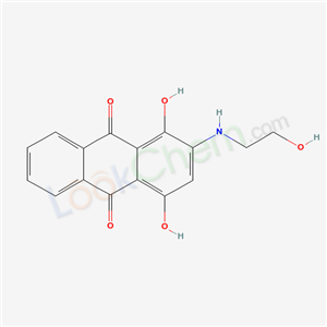 1,4-dihydroxy-2-(2-hydroxyethylamino)anthracene-9,10-dione cas  20253-58-1