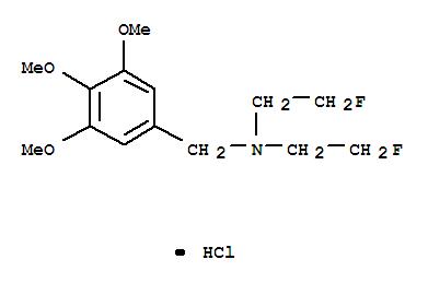 Benzenemethanamine,N,N-bis(2-fluoroethyl)-3,4,5-trimethoxy-, hydrochloride (1:1) cas  2923-84-4