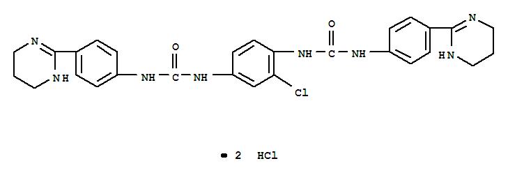 Urea,N,N''-(2-chloro-1,4-phenylene)bis[N'-[4-(1,4,5,6-tetrahydro-2-pyrimidinyl)phenyl]-,dihydrochloride (9CI) cas  25979-51-5