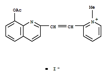 Pyridinium,2-[2-[8-(acetyloxy)-2-quinolinyl]ethenyl]-1-methyl-, iodide (1:1) cas 2240-72-4