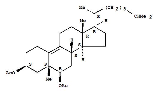 19-Norcholest-9-ene-3,6-diol,5-methyl-, diacetate, (3b,5b,6b)- (9CI) cas  2572-56-7