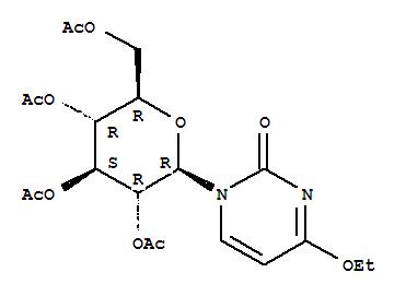 2(1H)-Pyrimidinone,4-ethoxy-1-(2,3,4,6-tetra-O-acetyl-b-D-glucopyranosyl)- cas 23707-29-1