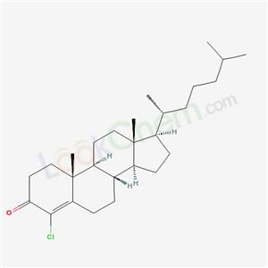 (8S,9S,10R,13R,14S,17R)-4-chloro-10,13-dimethyl-17-[(2R)-6-methylheptan-2-yl]-1,2,6,7,8,9,11,12,14,15,16,17-dodecahydrocyclopenta[a]phenanthren-3-one cas  2066-11-7