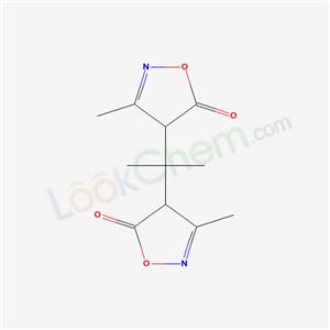 3-methyl-4-[2-(3-methyl-5-oxo-4H-oxazol-4-yl)propan-2-yl]-4H-oxazol-5-one cas  21486-41-9