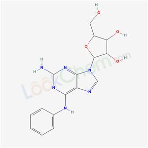 2-(2-amino-6-anilino-purin-9-yl)-5-(hydroxymethyl)oxolane-3,4-diol cas  29217-90-1
