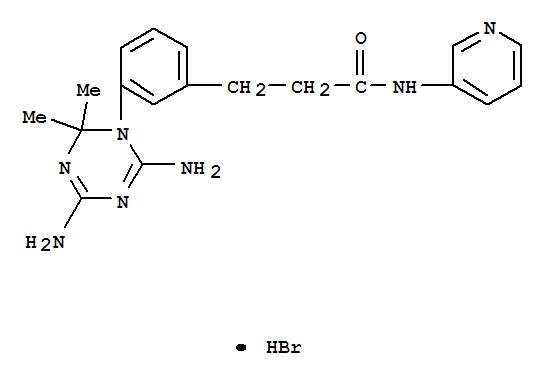 Benzenepropanamide,3-(4,6-diamino-2,2-dimethyl-1,3,5-triazin-1(2H)-yl)-N-3-pyridinyl-,hydrobromide (1:1)