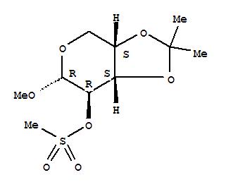 a-L-Arabinopyranoside, methyl 3,4-O-(1-methylethylidene)-,methanesulfonate (9CI) cas  3945-23-1