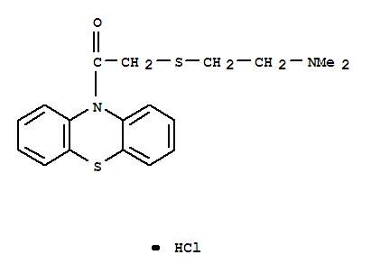 Ethanone,2-[[2-(dimethylamino)ethyl]thio]-1-(10H-phenothiazin-10-yl)-, hydrochloride(1:1) cas 3278-55-5