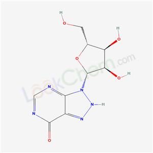 7H-1,2,3-Triazolo[4,5-d]pyrimidin-7-one, 3,4-dihydro-3-b-D-ribofuranosyl-