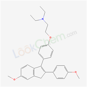 N,N-diethyl-2-[4-[5-methoxy-2-(4-methoxyphenyl)-3H-inden-1-yl]phenoxy]ethanamine cas  436-52-2