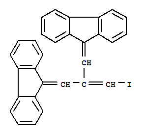 Propene,3-fluoren-9-ylidene-2-(fluoren-9-ylidenemethyl)-1-iodo- (7CI,8CI)