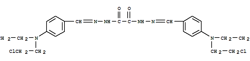 Ethanedioic acid,1,2-bis[2-[[4-[bis(2-chloroethyl)amino]phenyl]methylene]hydrazide]