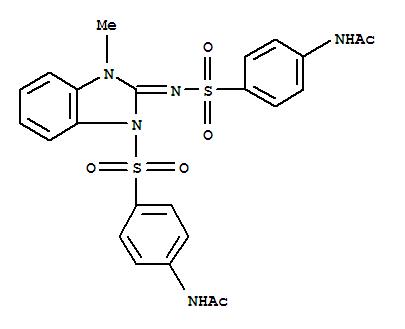 N-[4-[(2Z)-2-(4-ACETAMIDOPHENYL)SULFONYLIMINO-3-METHYL-BENZOIMIDAZOL-1 -YL]SULFONYLPHENYL]ACETAMIDE