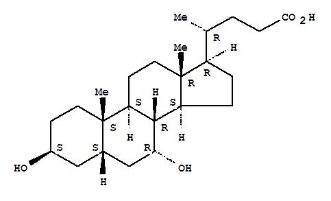 Cholan-24-oic acid,3,7-dihydroxy-, (3b,5b,7a)-