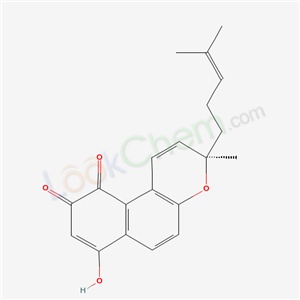 3H-NAPPHTHOL[2,1-B]PYRAN-7,10-DIONE, 9-HYDROXY-3-METHYL-3-(4-METHYL-3-PENTENYL)-(3R)