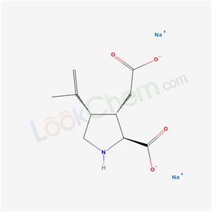3-Pyrrolidineacetic acid, 2-carboxy-4-(1-methylethenyl)-, sodium salt, (2S-(2alpha,3beta,4beta))-