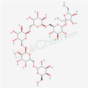 (2S,3R,4S,5S,6R)-2-[[(2R,3S,4S,5R,6S)-6-[[(2R,3R,4S,5R,6R)-6-[(2S,3S,4R,5R)-3,4-dihydroxy-2,5-bis(hydroxymethyl)oxolan-2-yl]oxy-3,4,5-trihydroxy-oxan-2-yl]methoxy]-3,4,5-trihydroxy-oxan-2-yl]methoxy]-