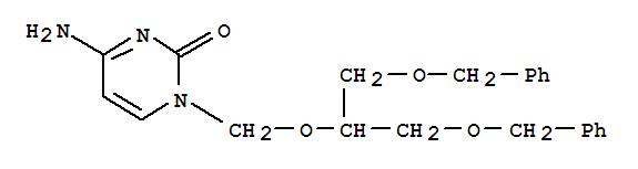 2(1H)-Pyrimidinone, 4-amino-1-[[2-(phenylmethoxy)-1-[(phenylmethoxy)methyl]ethoxy]methyl]- cas 82410-29-5