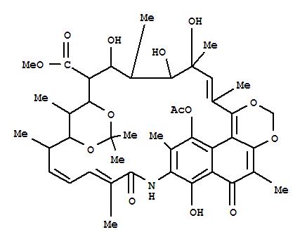 Streptovaricinoic acid, 17,<em>19-O-</em>(1-methylethylidene)-,methyl ester (9CI) cas  80901-81-1