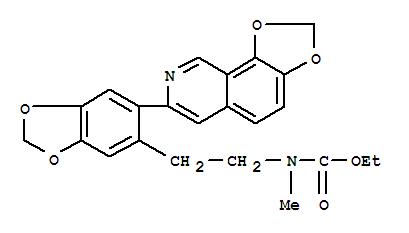 Carbamic acid,[2-[6-(1,3-dioxolo[4,5-h]isoquinolin-7-yl)-1,3-benzodioxol-5-yl]ethyl]methyl-,ethyl ester (9CI)