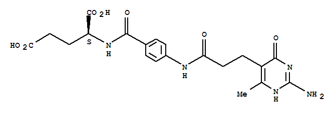 L-Glutamic acid,N-[4-[[3-(2-amino-1,4-dihydro-6-methyl-4-oxo-5-pyrimidinyl)-1-oxopropyl]amino]benzoyl]-(9CI) cas 87-36-5