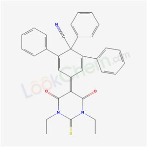 4-(1,3-diethyl-4,6-dioxo-2-sulfanylidene-1,3-diazinan-5-ylidene)-1,2,6-triphenyl-cyclohexa-2,5-diene-1-carbonitrile