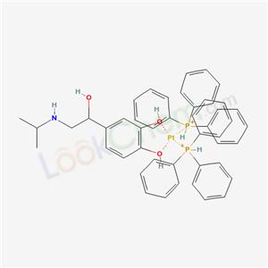 4-[1-hydroxy-2-(propan-2-ylamino)ethyl]benzene-1,2-diol; platinum; triphenylphosphanium cas  87405-03-6