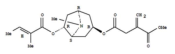 Butanedioic acid,methylene-, 1-methyl4-[(1R,3R,5S,6R)-8-methyl-6-[[(2E)-2-methyl-1-oxo-2-butenyl]oxy]-8-azabicyclo[3.2.1]oct-3-yl]ester (9CI)