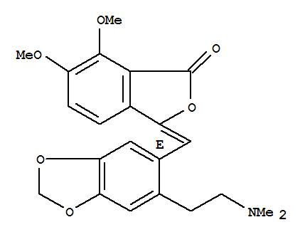 1(3H)-Isobenzofuranone,3-[[6-[2-(dimethylamino)ethyl]-1,3-benzodioxol-5-yl]methylene]-6,7-dimethoxy-,(E)- (9CI)