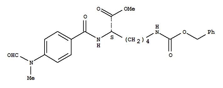 L-Lysine,N2-[4-(formylmethylamino)benzoyl]-N6-[(phenylmethoxy)carbonyl]-, methyl ester cas  51865-75-9