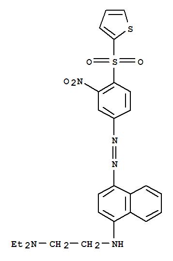 1,2-Ethanediamine,N1,N1-diethyl-N2-[4-[2-[3-nitro-4-(2-thienylsulfonyl)phenyl]diazenyl]-1-naphthalenyl]-